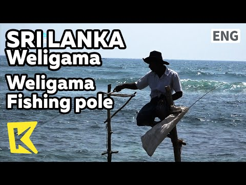 【K】Sri Lanka Travel-Weligama[스리랑카 여행-웰리가마]웰리가마 장대 낚시/Fishing pole/Beach/Surfing
