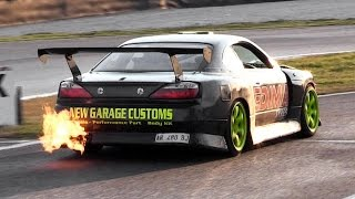 Single Turbo 1JZ-GTE Nissan Silvia S15 w/ Japspeed Exhaust Sound & Drifting