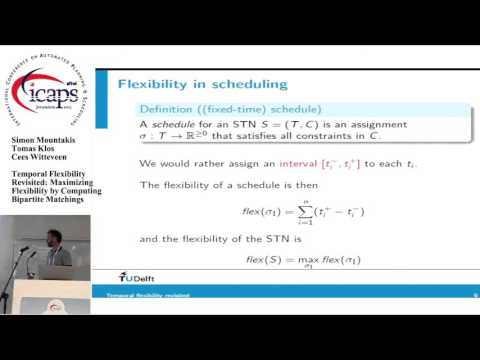 "ICAPS 2015: ""Temporal Flexibility Revisited: Maximizing Flexibility by Computing Bipartite ..."""
