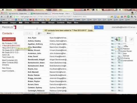 Google Contacts - Making a Group From A Spreadsheet List