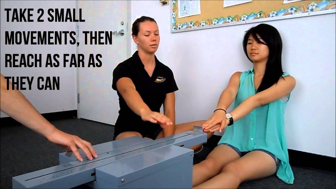 How to Perform the Sit and Reach test