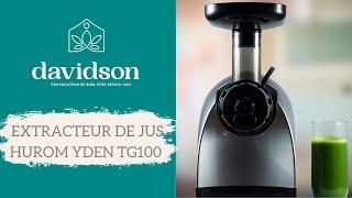 Démonstration Extracteur De Jus YDEN TG100 - Davidson Distribution