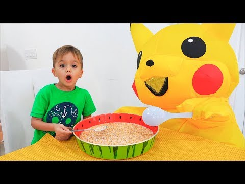 Vlad and Nikita children morning routine story with Huge Toy