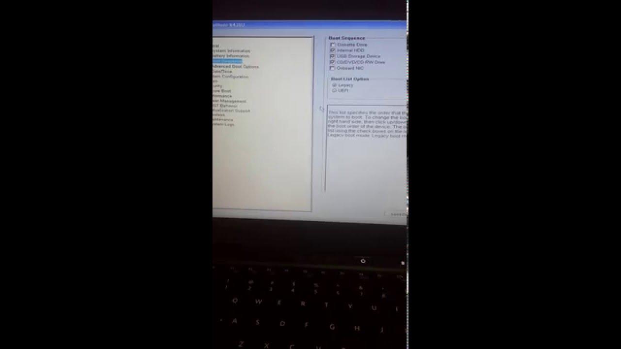 Fix Dell Latitude Ultrabook no boot device found