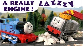 thomas and friends train accident prank toy trains fun story with toys a really lazy engine tt4u
