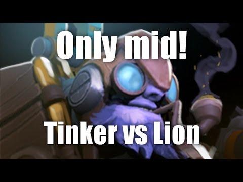 видео: only mid 1 на 1 dota 2 [tinker vs lion]