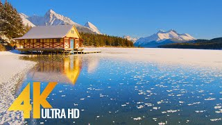 Wintertime Beauty of Cąnadian National Parks - 4K Relaxation Video with Nature Sounds - Part #2