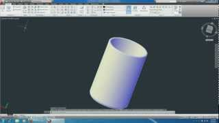 Autocad 2013 3D Cup sweep and trim commands