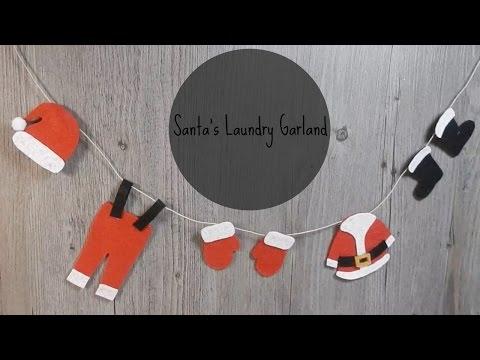 Christmas DIY Santa Clothes Garland