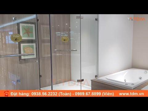 Phòng tắm kính - TDM.VN   Phòng tắm kính cường lực Caesar SD5320AT RO LO đẹp cửa mở giá tốt nhất