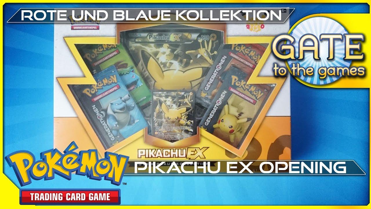 Pokemon Karten Pikachu Ex.Pikachu Ex Rote Und Blaue Kollektion Pokemon Generations 20th Anniversary Opening Unboxing