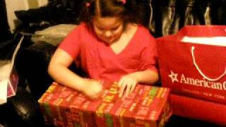 AMERICAN GIRL DOLL CHRISTMAS 2009 SURPRISE girl screaming  MUST SEE!!