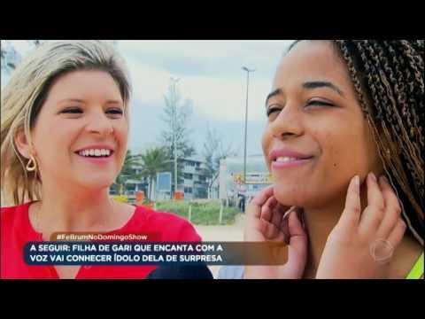 Reysla, que superou câncer na garganta, encontra o ídolo Fê Brum