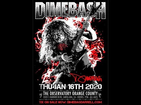 2020 'Dimebash' concert to feat. members of Anthrax/Hellyeah/Lamb of God and more..!
