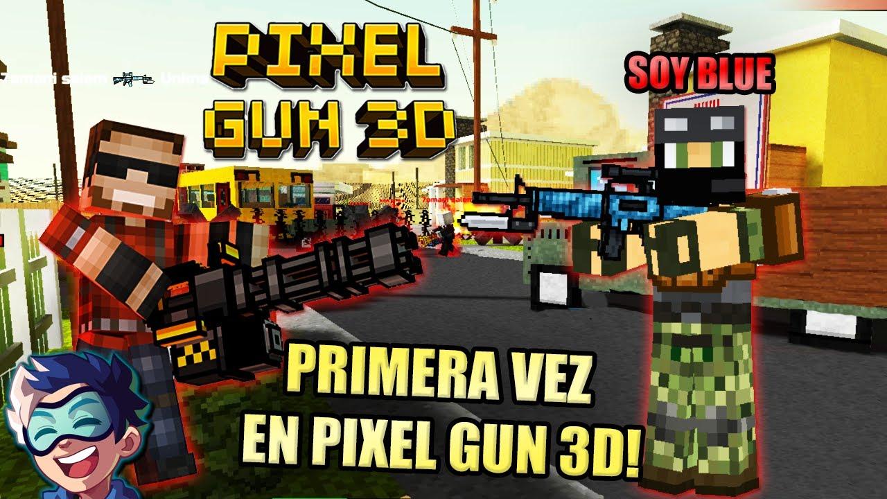 PRIMERA VEZ EN PIXEL GUN 3D! VICTORIA!   Soy Blue   Juegos Celular/Tablet