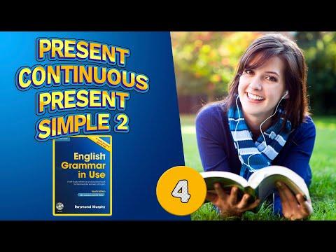 #4 Тренажёр по учебнику Мёрфи синий  Present Continuous : Present Simple 2  Базовый уровень 2