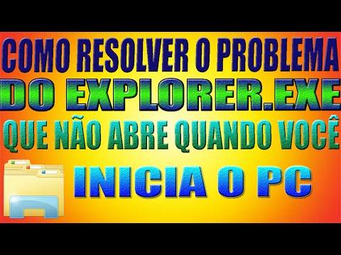 Como Resolver o Problema do Explorer.exe que não abre quando você inicia o pc (Windows 7/8/8.1/10)