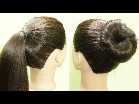 simple-high-ponytail-juda-hairstyle-#hairstyle-#highbun-#dailyhairstyle-#quick-#kgshairstyles
