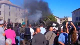 Demonstration du moteur fixe Duvant, Tractomania 2014