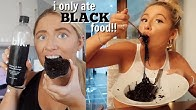I ONLY ate BLACK coloured foods for 24hours challenge!!