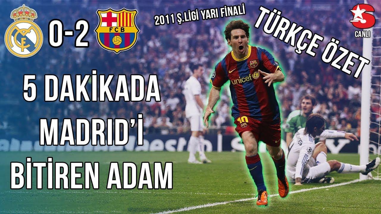 Real Madrid 0-2 FC Barcelona | 2011 Şampiyonlar Ligi Yarı Final Türkçe Spiker • HD