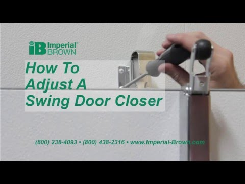 How To Adjust A Swing Door Closer On A Walk-in Cooler