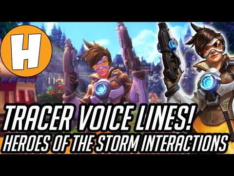 40 new tracer voicelines interactions jokes in heroes of the storm