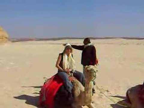 viv getting on a camel