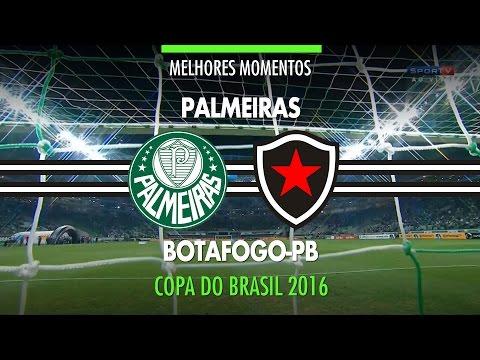 Melhores Momentos - Palmeiras 3 x 0 Botafogo-PB - Copa do Brasil - 31/08/2016
