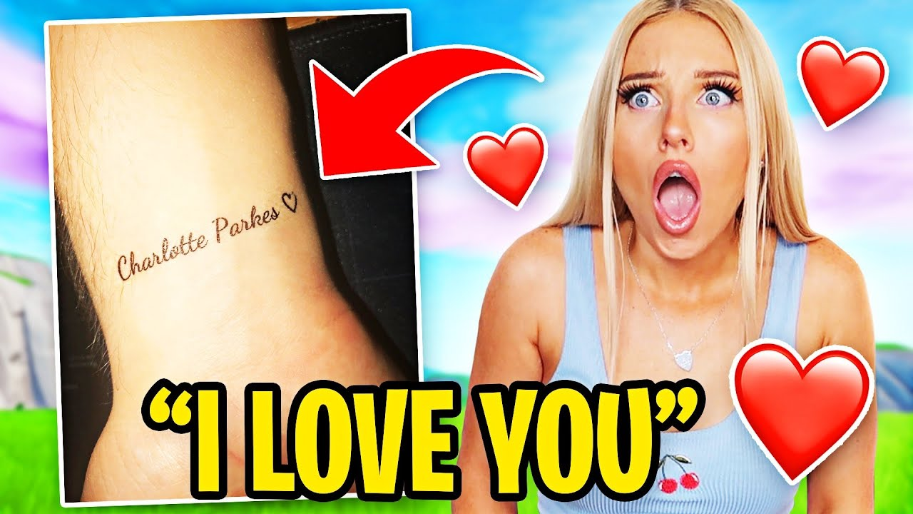 My Duo SURPRISED Me with a TATTOO of my Name in Fortnite!!