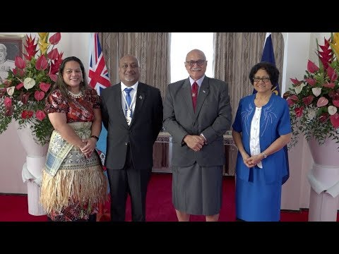 Fijian President receives credentials from the High Commissioner of Marshall Islands