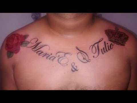 Tatuaje De Rosa Nombrescorona Artist Duver Gomez Youtube