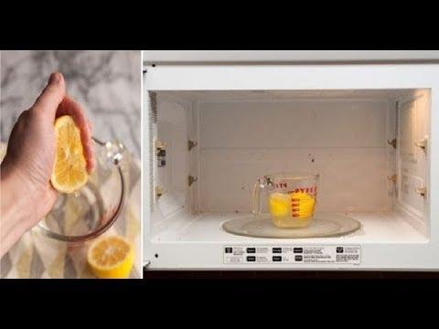 Как почистить микроволновку с помощью лимона и воды