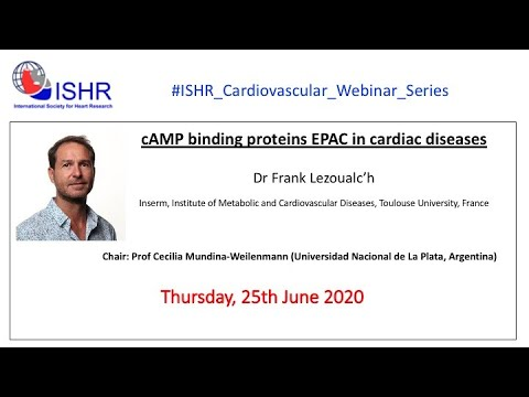 """Dr Frank Lezoualc'h - """"cAMP binding proteins in cardiac diseases"""""""