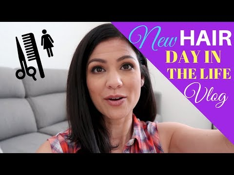STAY AT HOME MOM DAY IN THE LIFE | NEW HAIR