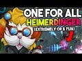 HEIMERDINGER IS THE MOST OVERPOWERED IN ONE FOR ALL! UNBEATABLE SIEGING TURRETS -  League of Legends