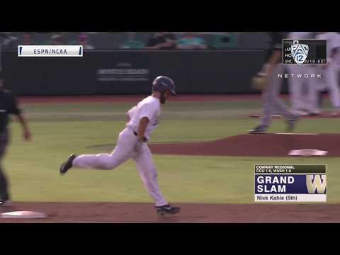 Highlights: Washington baseball upends No. 15 seed Coastal Carolina in NCAA Regional play