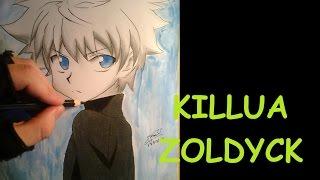 Drawing Killua Zoldyck -HunterxHunter- (Desenhando Killua HunterxHunter)
