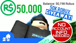 ROBLOX: 50,000 ROBUX GIVEAWAY! (No Pass Required)