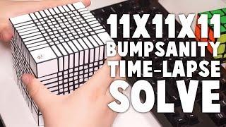 11x11x11 BUMPSANITY Time Lapse Solve!