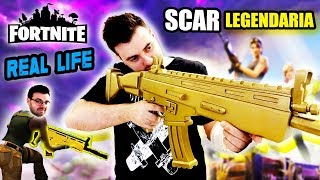 FORTNITE BATTLE ROYALE SCAR LEGENDARY IN REAL LIFE! DIY Dcrafting