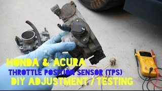 How To Replace & Calibrate Honda TPS (throttle position sensor) - Code 7 Check Engine Light