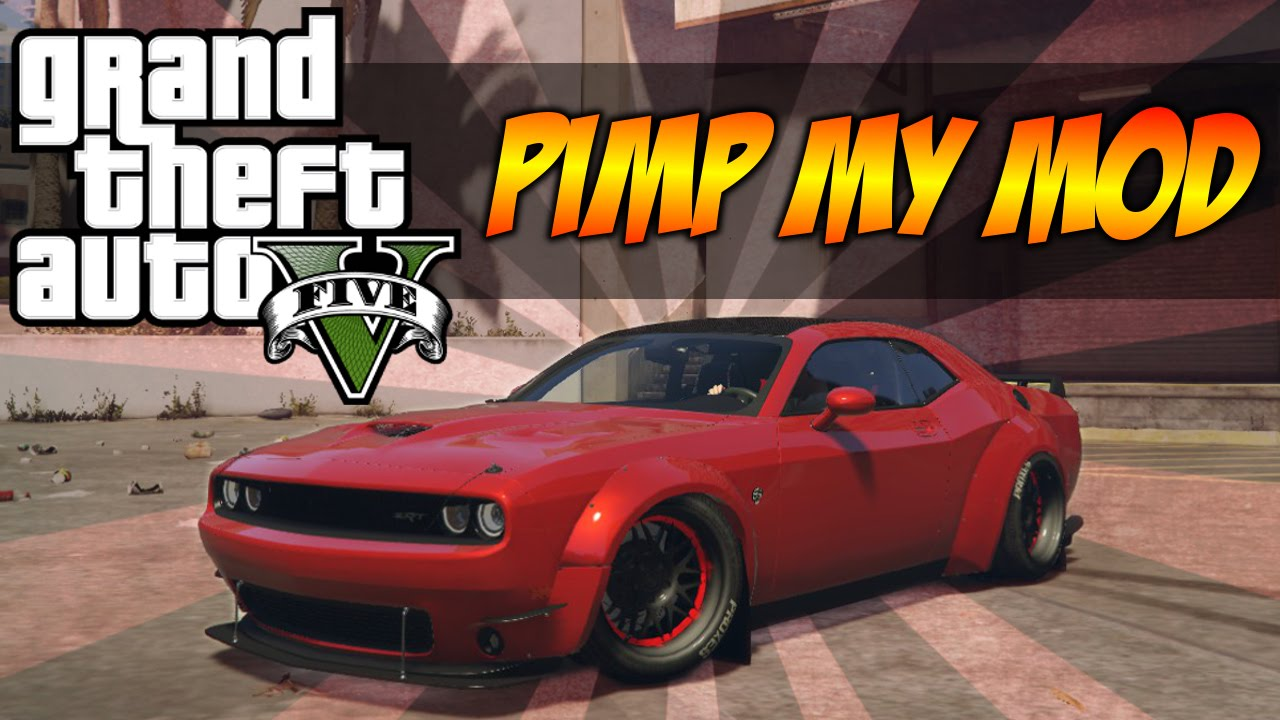2016 Mitsubishi Eclipse >> GTA 5 - Pimp My Mod #30 | Dodge Challenger Super Tuning | Modded Car Customization - YouTube