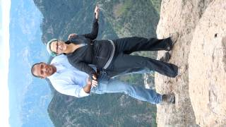 Mary on Tipping Rock in Copper Canyon Mexico