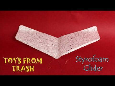 how to build a styrofoam glider