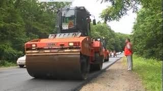 Примавтодор ремонтирует дорогу в бухту Лазурная