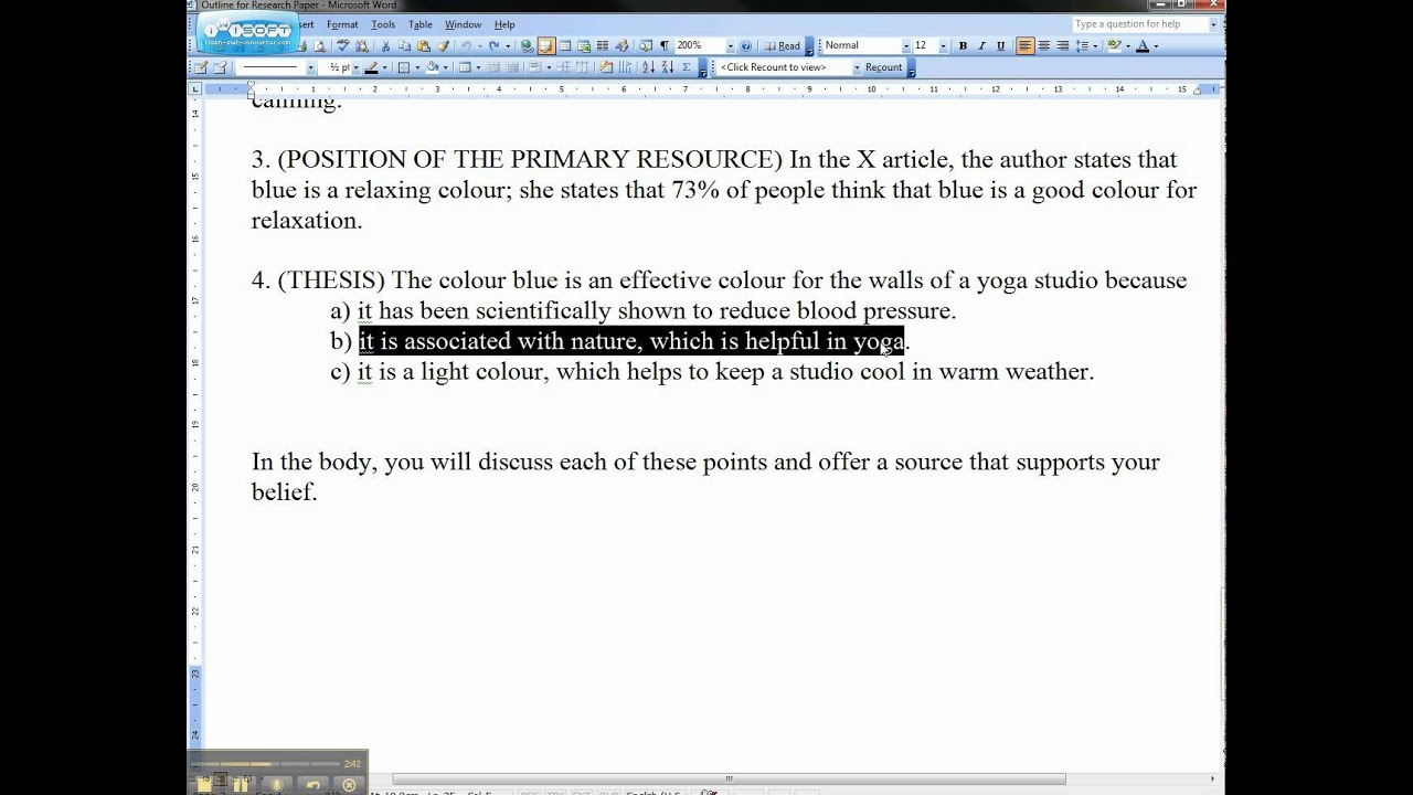 Causes Of The English Civil War Essay  English Essay Outline Format also Help Writing Essay Paper Example Of An Essay Introduction And Thesis Statementavi  Youtube Graduating High School Essay