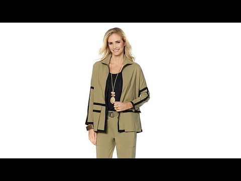 be66a54fa9017 MarlaWynne Piped Bengaline Unstructured Jacket - YouTube