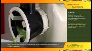 Matstone 8in1 Slow Juicer : Vegetable or Fruit Slicing
