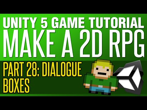 Unity RPG Tutorial #28   Dialogue Boxes